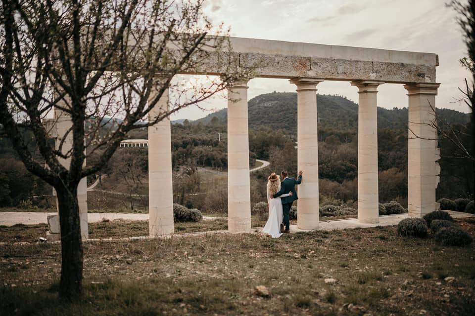 Mariage arcades fontainebleau en provence