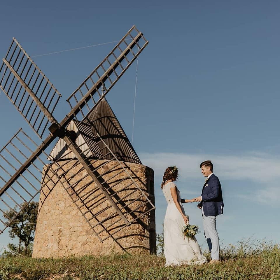 Mariage moulin fontainebleau en provence